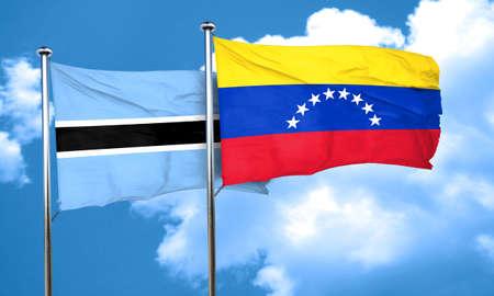 bandera de venezuela: bandera de Botswana con la bandera Venezuela, 3D Foto de archivo