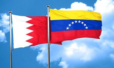 bandera de venezuela: bandera de Bahrein con la bandera de Venezuela, 3D