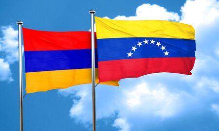 bandera de venezuela: Bandera de Armenia con la bandera de Venezuela, 3D