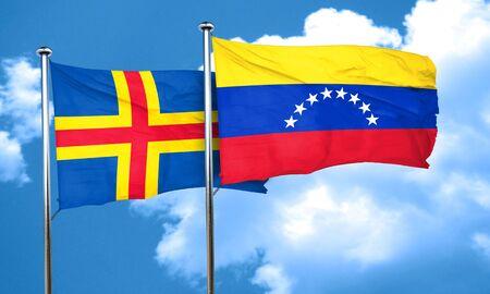 venezuela flag: islas de Aland con la bandera de Venezuela, 3D