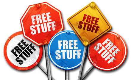 free stuff, 3D rendering, rough street sign collection