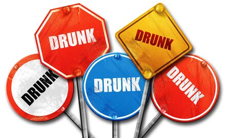 dui: drunk, 3D rendering, rough street sign collection Stock Photo