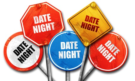 out of engagement: date night, 3D rendering, rough street sign collection
