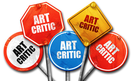 critic: art critic, 3D rendering, rough street sign collection
