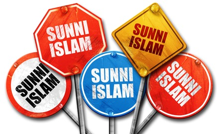 sunni: , 3D rendering, rough street sign collection