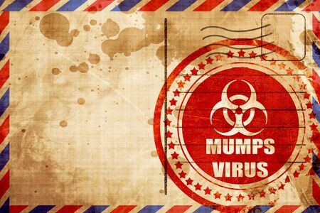 mumps: Mumps virus concept background with some soft smooth lines