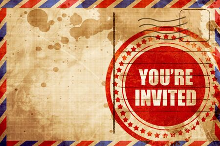 you are invited: you are invited
