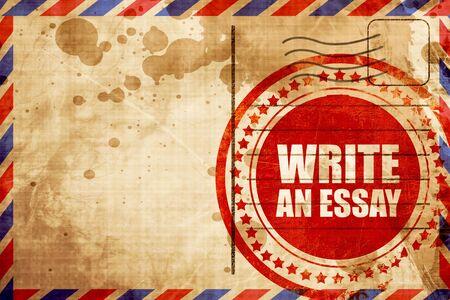 essay: write an essay