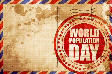 poblacion: d�a de la poblaci�n mundial Foto de archivo