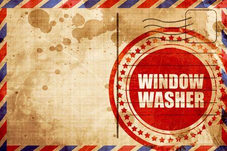 window washer: window washer