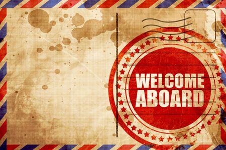 Bienvenido a bordo Foto de archivo