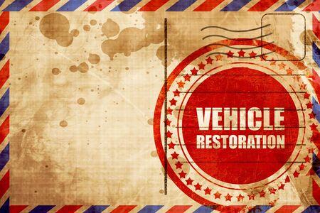 restoration: vehicle restoration Stock Photo