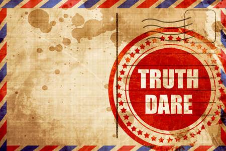 dare: truth or dare Stock Photo