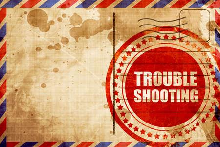 solucion de problemas: troubleshooting Foto de archivo