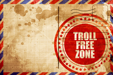 in the zone: troll free zone Stock Photo