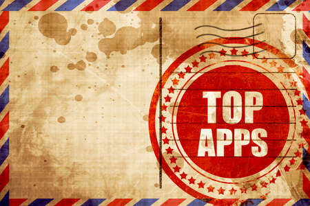 on top: top apps Stock Photo