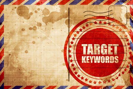 keywords: target keywords Stock Photo