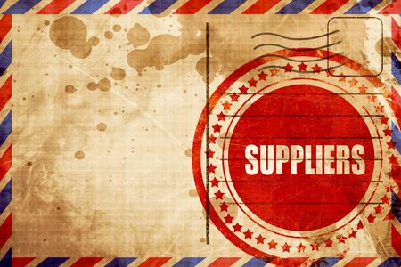 suppliers: suppliers Stock Photo