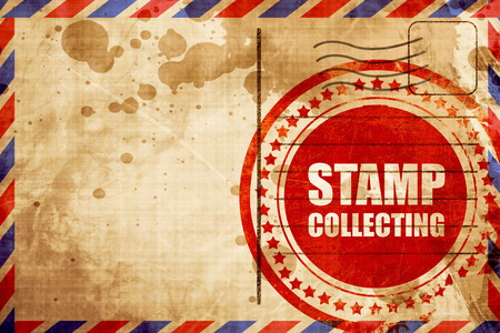 stamp collecting: stamp collecting Stock Photo