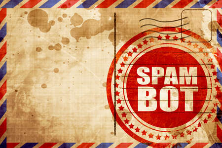 bot: spam bot Stock Photo