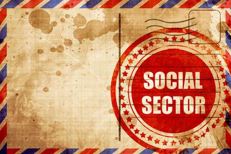 sector: social sector Stock Photo