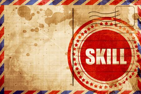 skill: skill