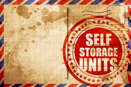 units: self storage units Stock Photo