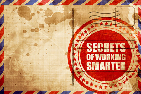 smarter: secrects of working smarter Stock Photo