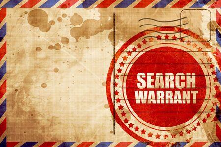 prosecutors: search warrant Stock Photo
