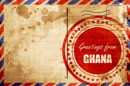 Greetings from ghana card with some soft highlights red grunge greetings from ghana card with some soft highlights red grunge stamp on an airmail background m4hsunfo