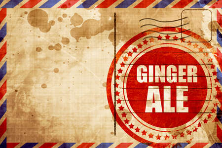 ale: ginge ale, red grunge stamp on an airmail background Stock Photo