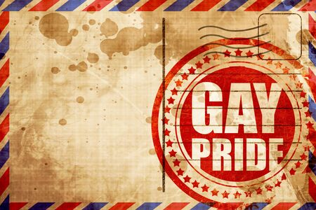 transsexual: gay pride, red grunge stamp on an airmail background Stock Photo