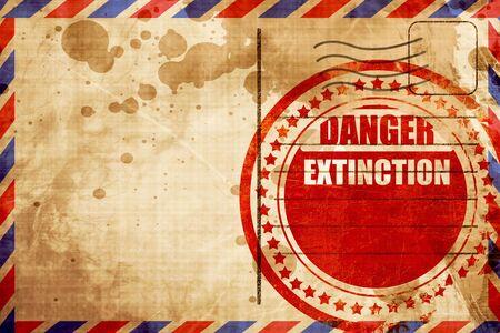 uranium radioactivity: apocalypse danger background on a grunge background, red grunge stamp on an airmail background Stock Photo