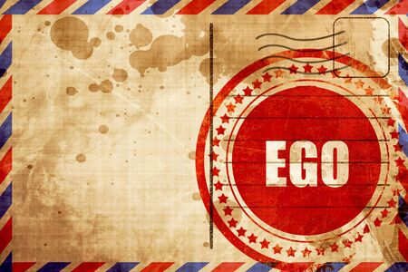 ego: ego, red grunge stamp on an airmail background Stock Photo