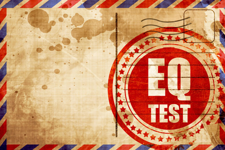eq: eq test, red grunge stamp on an airmail background Stock Photo