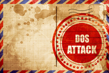Cyber warfare background with some smooth lines, red grunge stamp on an airmail background