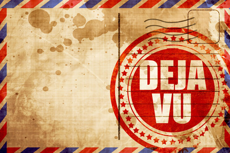 premonition: deja vu, red grunge stamp on an airmail background Stock Photo