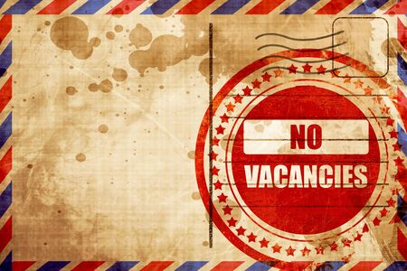 holidays vacancy: Vacancy sign for motel with some soft glowing highlights, red grunge stamp on an airmail background