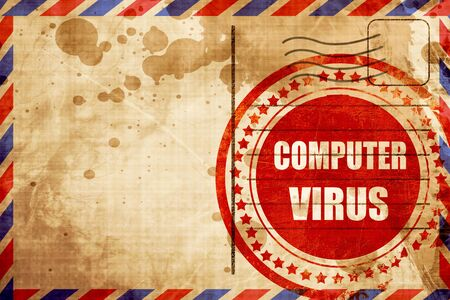 adware: Virus removal background with some soft smooth lines, red grunge stamp on an airmail background Stock Photo