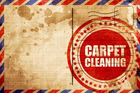 carpet wash: carpet cleaning, red grunge stamp on an airmail background Stock Photo