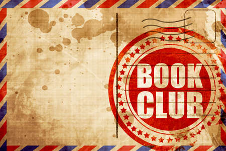 book club: book club, red grunge stamp on an airmail background Stock Photo