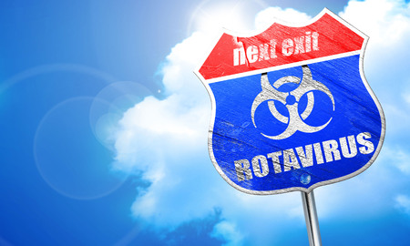 rotavirus concept background with some soft smooth lines, 3D rendering, blue street sign