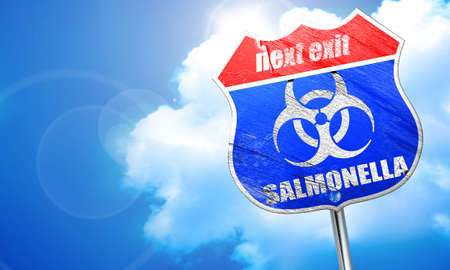 salmonella: Salmonella concept background with some soft smooth lines, 3D rendering, blue street sign