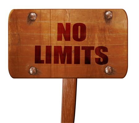 quickness: no limits, 3D rendering, text on wooden sign
