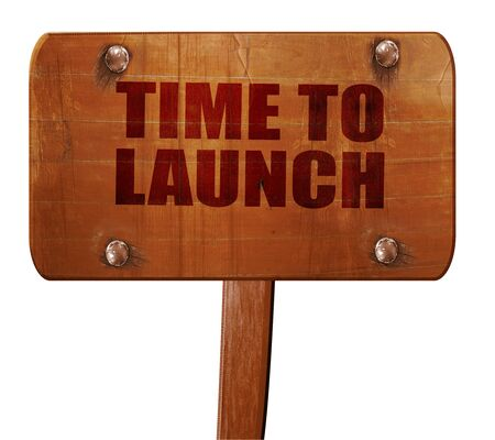kickoff: time to launch, 3D rendering, text on direction sign