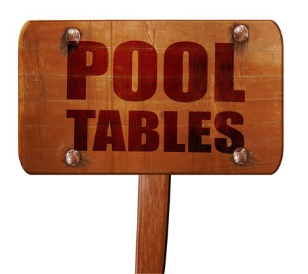 pool tables: pool tables, 3D rendering, text on direction sign