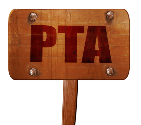pta, 3D rendering, text on direction sign Stock Photo