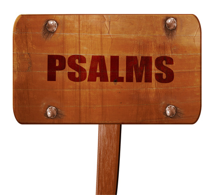 psalms, 3D rendering, text on direction sign Stock Photo