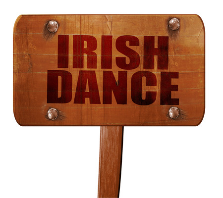 triskele: irish dance, 3D rendering, text on direction sign