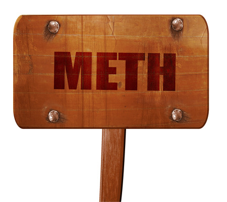 meth: meth, 3D rendering, text on direction sign